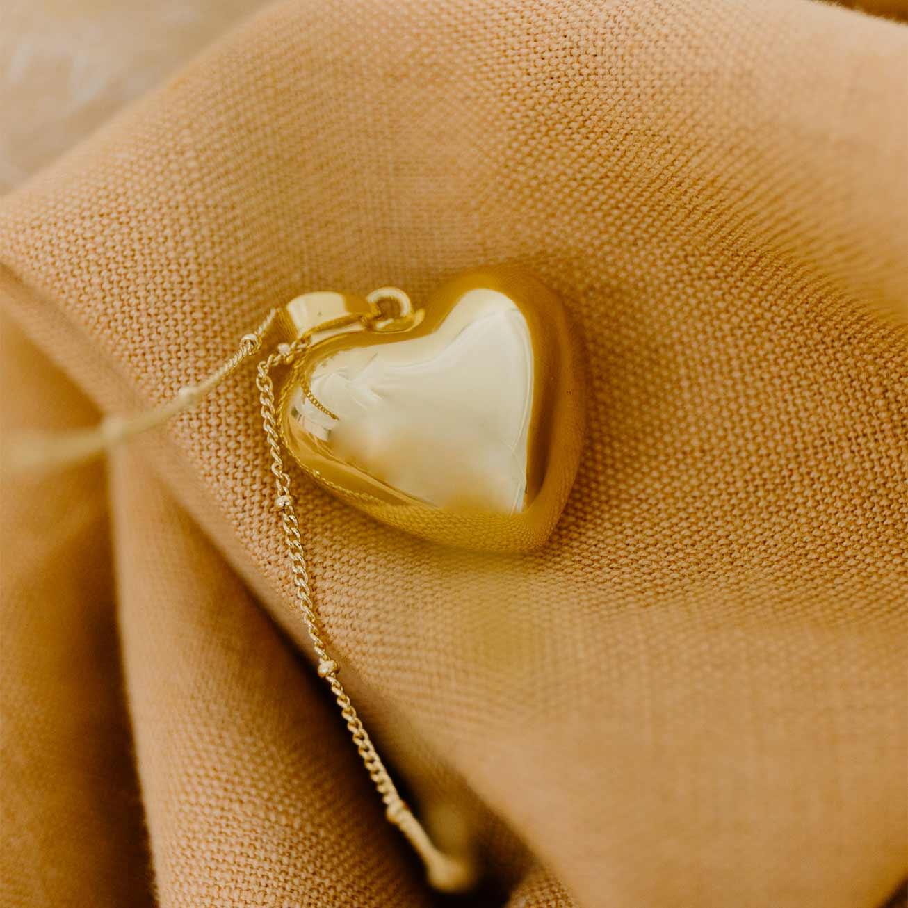 Bola de grossesse Coeur or