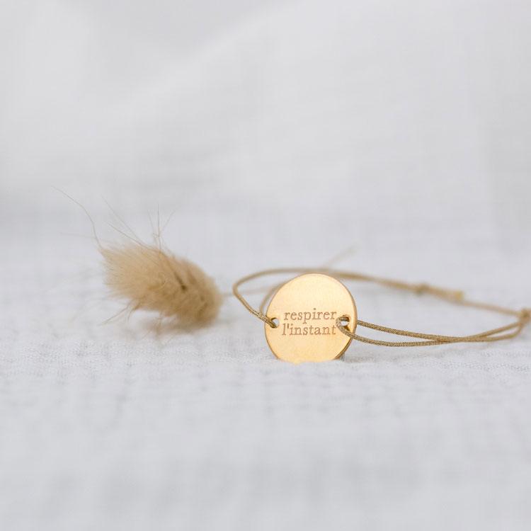 bracelet personnalisé respirer l'instant