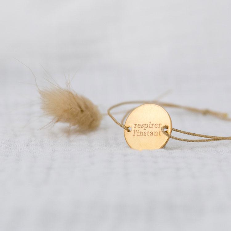 bracelet personnalisé respirer l'instant zoom