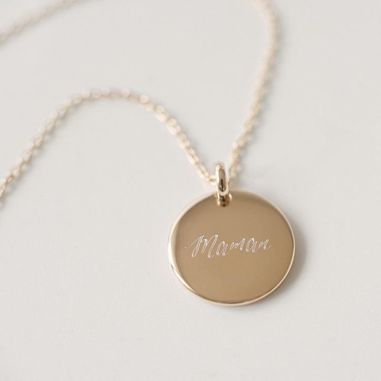 Médaille bombée or Maman