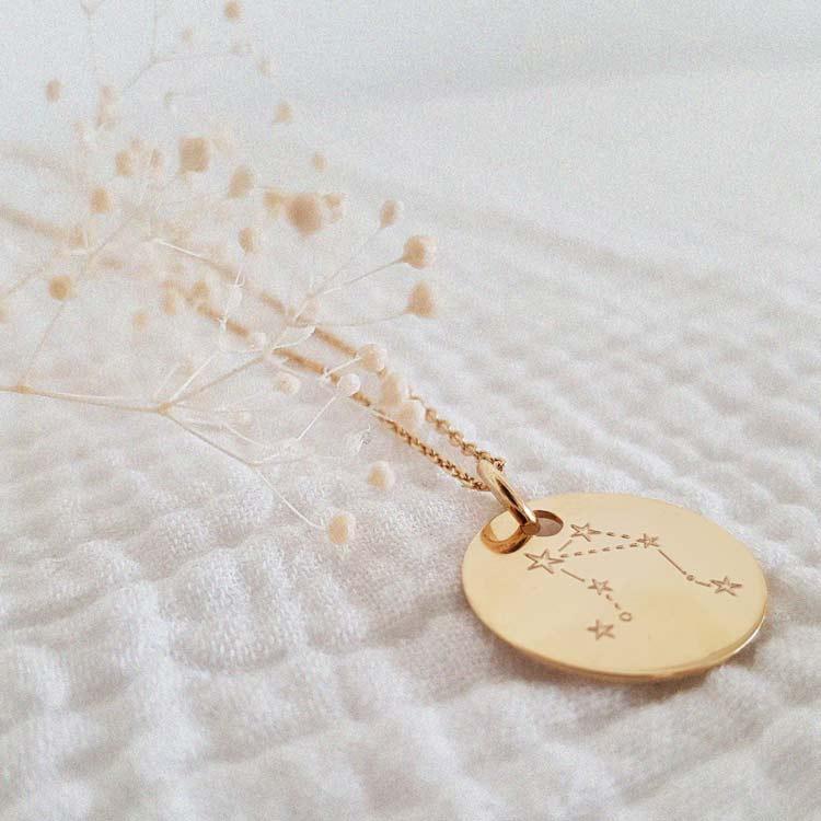 collier personnalisé signe zodiaque balance
