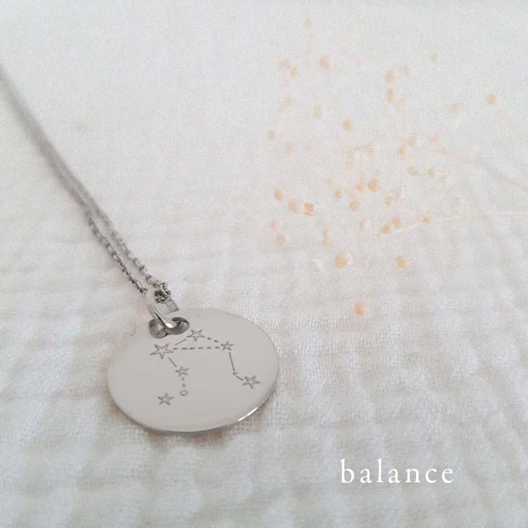 Collier signe astro Argent balance