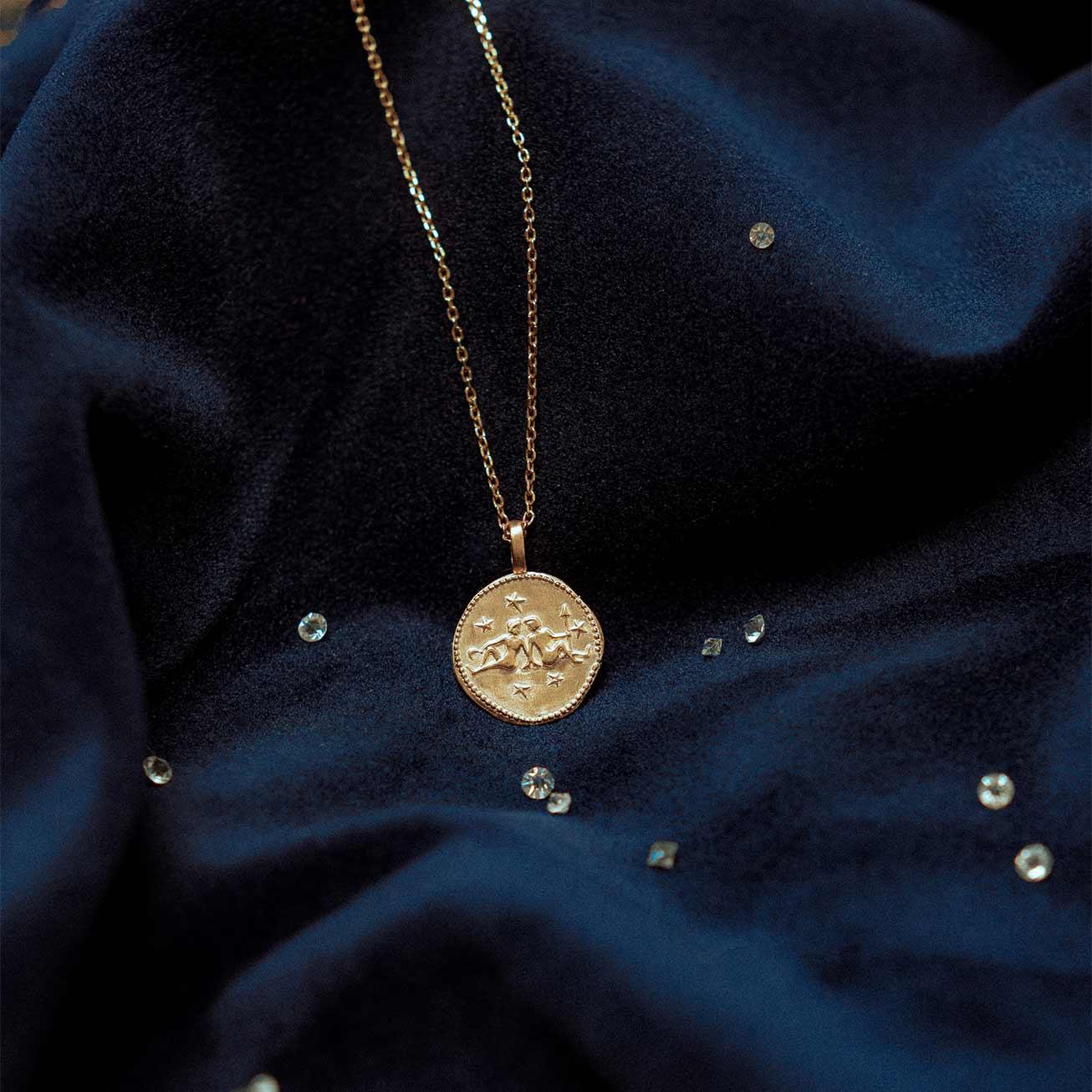 Collier signe du zodiaque Gémeaux