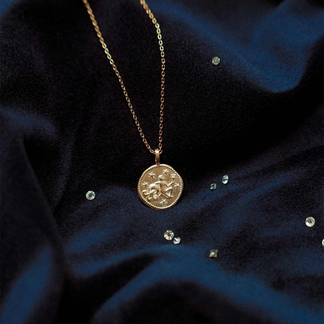 Pendentif signe zodiaque Verseau