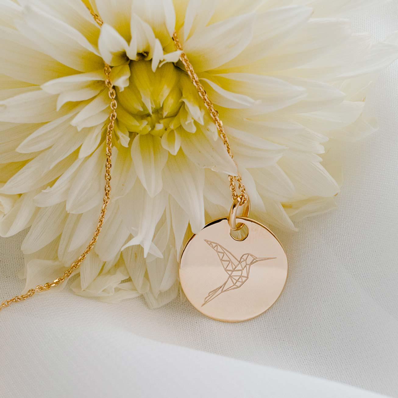 Médaille personnalisée Colibri