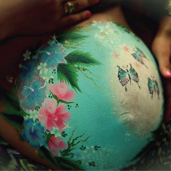 belly painting femme enceinte